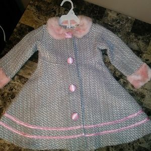 Toddler Pea Coat and Matching Dress